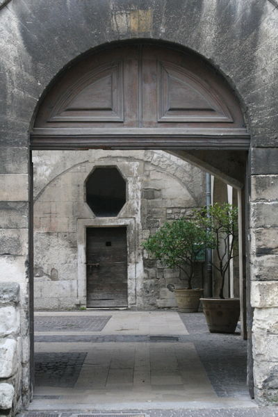 doorway in a small French village