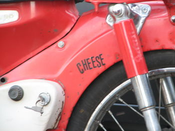 motorcycle cheese