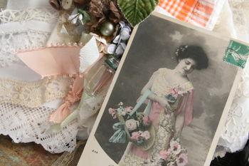 vintage romantic postcard