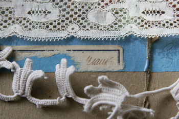 French vintage paper and lace