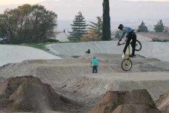 BMX trick jump