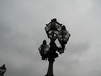 French street lamp