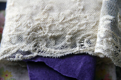 Lace on purple