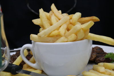 French fries in a cup