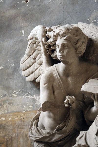 Angel facade in arles