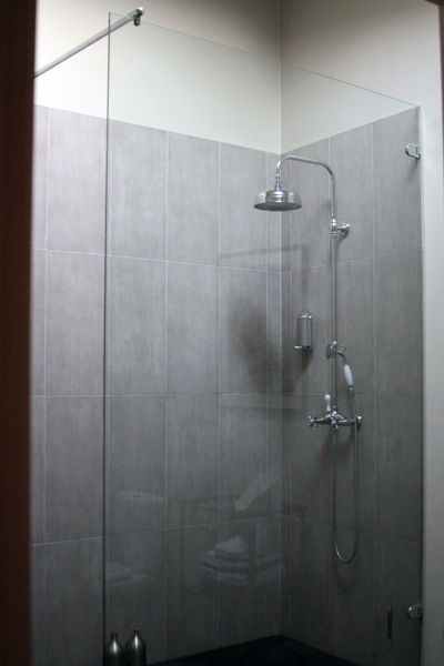 glass walled shower Bathroom