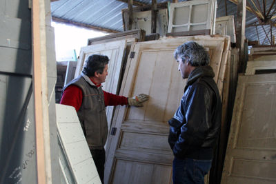 Old French doors and shutters
