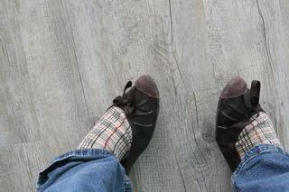 turned up feet