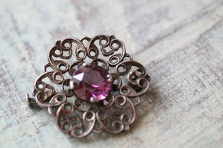 siver brooch