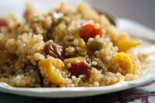 Quinoa-with-red-peppers