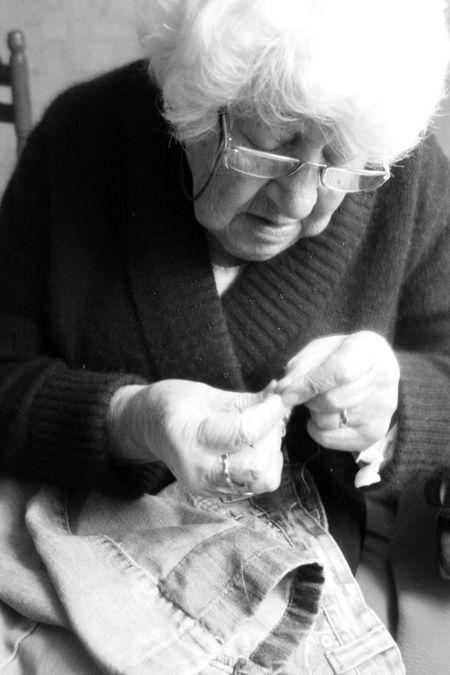 Annie sewing