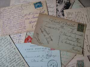 FRENCH-HANDWRITTING-POSTCAR