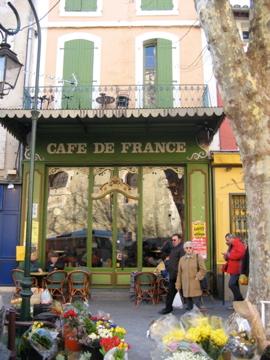store front in france Cafe de France