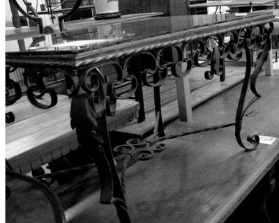 Rod iron coffee table