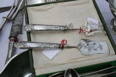 silver fois gras serving pieces
