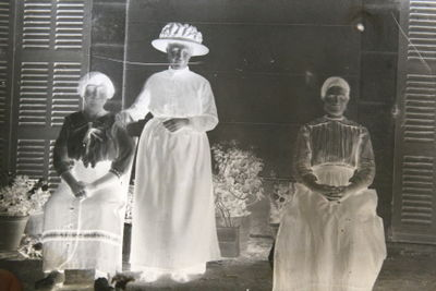 antique photographs on glass slides