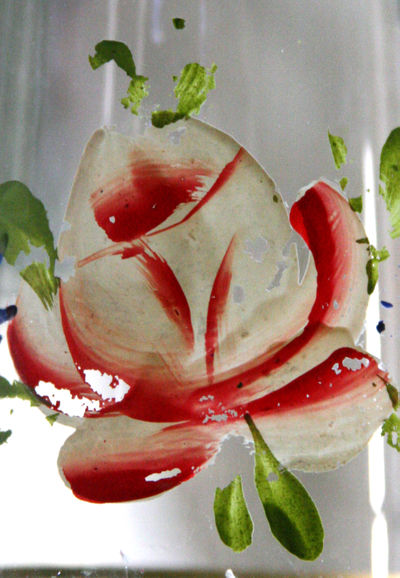 Antique-painted-roses-glass