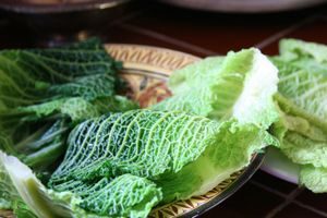 Cabbage-blanched