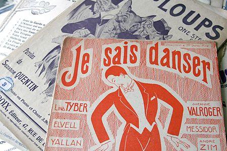 Vintage music programs dancer