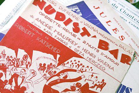 Vintage music programs 1920S