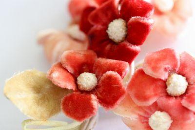 Velvet flowers pink