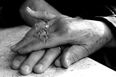 Annie's hand