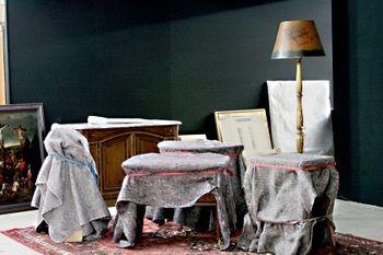 Antique salon set up