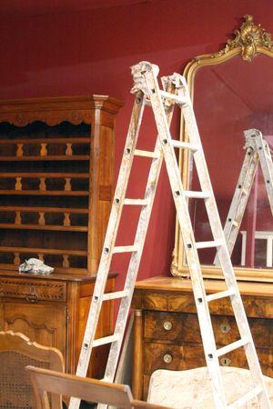 Gilded mirror antique salon