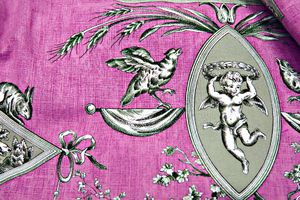 French-rose-toile Toile de Jouy