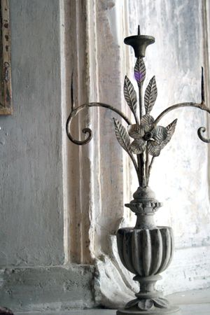 La-madone-French antique candle stick