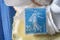French-Post-stamp-25c