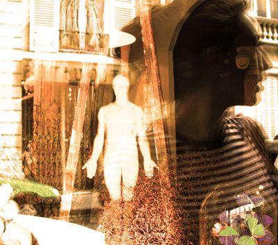 window displays Paris