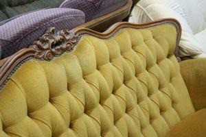 vintage button sofa