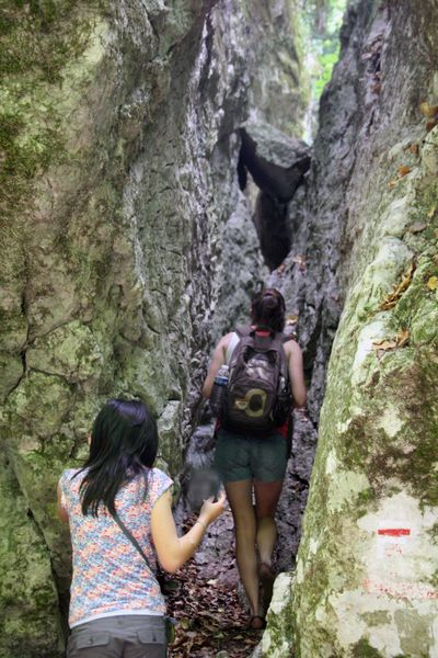 Hiking in the crevice