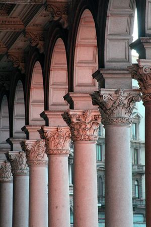 Stone columns by the Duomo