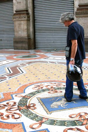 Marble floor, bull , Galleria Vittorio Emanuele II