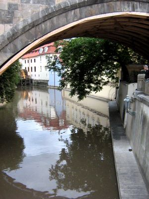 Under st charles bridge prague