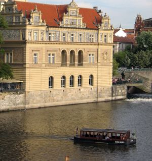 Boats on river Prague