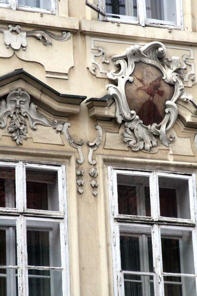 Prague facade old city