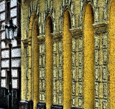 Prague yellow facade