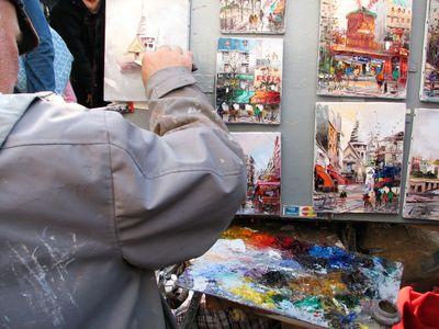 Painter in Montmarte