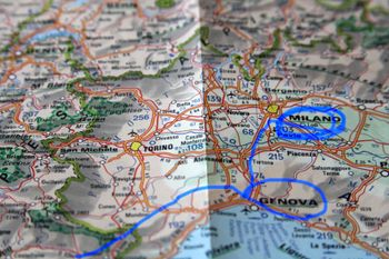Map to Milan