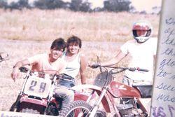Mark, Dean and their bikes