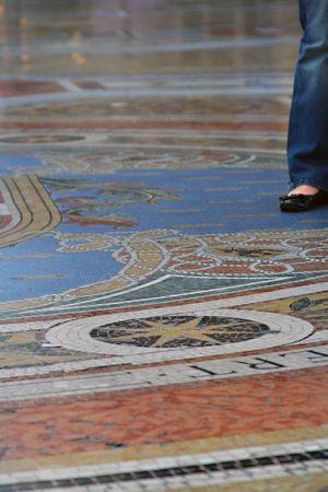 Marble floor milan interior