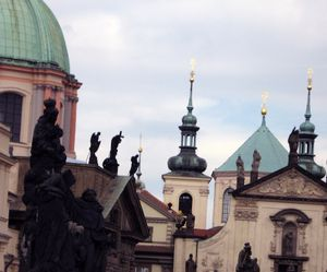St charles bridge prague towers