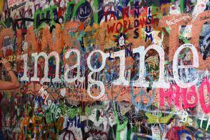 Prague lennon wall imagine