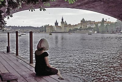 Prague under the bridge