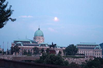 Budapest full moon