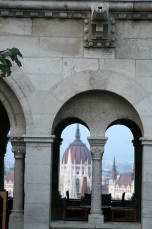 Budapest through the arches