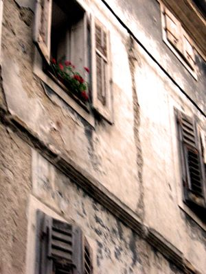 Old facade in croatia